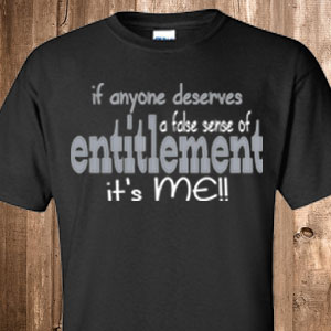entitlement-black tee